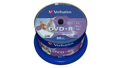 Disk Verbatim Printable DVD+R 4,7GB, 16x, 50cake (43512)