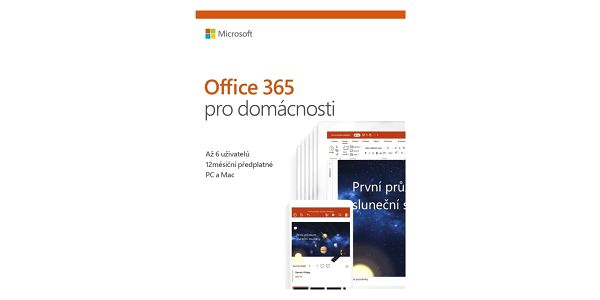 Software Microsoft 365 pro rodiny CZ (6GQ-00898) + DOPRAVA ZDARMA