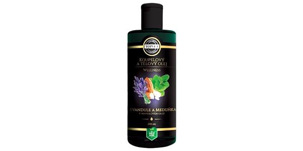 Topvet Tělový olej Levandule a meduňka, 200 ml