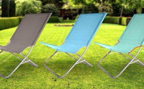 Pevné skládací zahradní lehátko pro letní relax