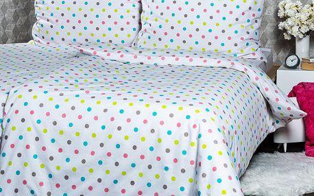 4Home Bavlněné povlečení Dots, 140 x 200 cm, 70 x 90 cm