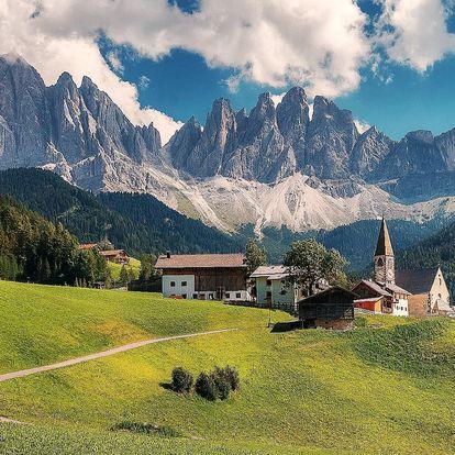 Zájezd do Dolomit: doprava a apartmány na 4 noci