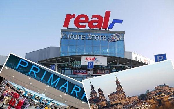 Nákupy v Drážďanech a velkém obchodním centru v Heidenau