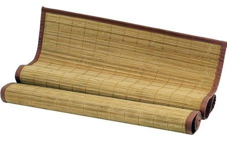 Bambusová rohož za postel, hnědá