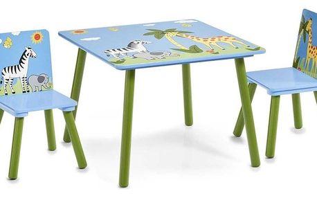 Dětský stolek SAFARI + 2 židličky, ZELLER