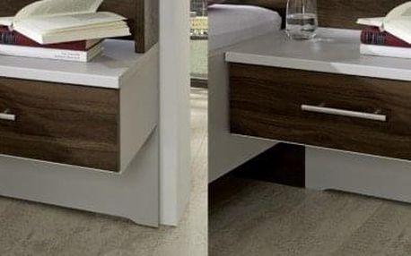 Noční stolek Imola - 1x výsuv, visutý, 2 ks (champagne, nocce)