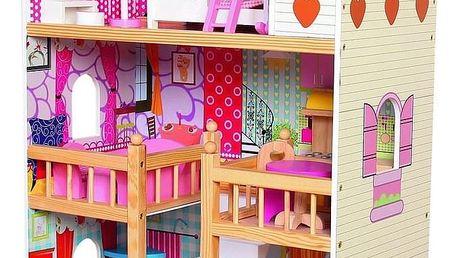 Bino Dětský dřevěný domeček s nábytkem