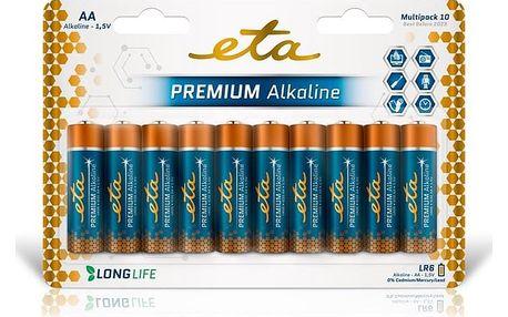 Baterie alkalická ETA PREMIUM ALKALINE AA, LR06, blistr 10ks (R06PREM10)