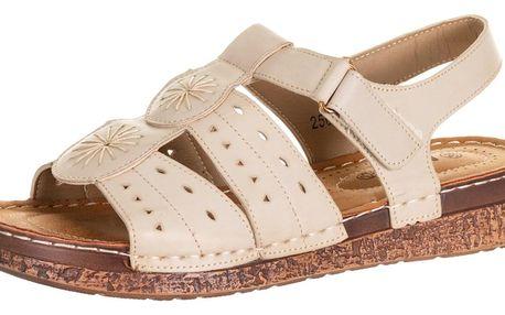 Minke dámské sandály na suchý zip umělá kůže ZX0037-0844