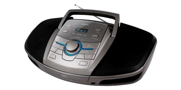 Radiomagnetofon s CD Sencor SPT 5280 černý/stříbrný