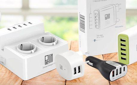USB nabíječky Pelitt domů i do automobilu