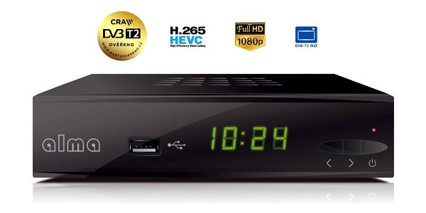 Set-top box ALMA 2860 černý3