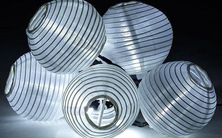 Solární osvětlení Lampions, 10 LED