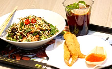 Japonsko-thajské menu: kuře, krevety nebo losos