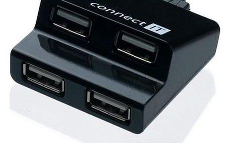 USB Hub Connect IT (CI-108) USB 2.0 / 4x USB 2.0 černý (CI-108)