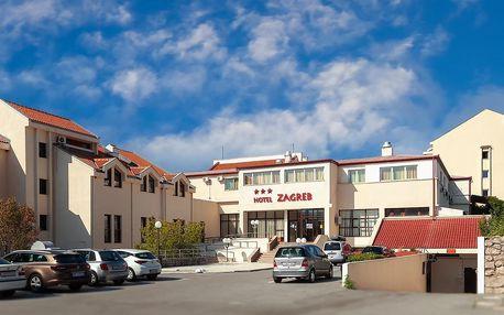 Týden v Chorvatsku, Vodice | Hotel Zagreb – Karlobag*** 50 m od pláže | Dítě zdarma | Klimatizace | Polopenze nebo All inclusive