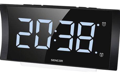 Budík Sencor SDC 4930W černý/bílý