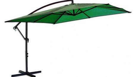 Tradgard 8080 Čtvercový slunečník boční zelený 270 x 270 cm