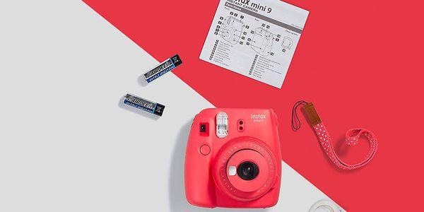 Digitální fotoaparát Fujifilm Instax mini 9 + pouzdro červený2