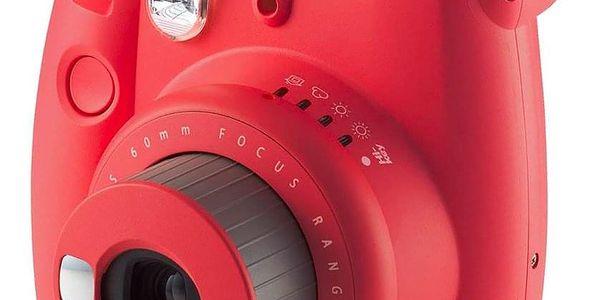 Digitální fotoaparát Fujifilm Instax mini 9 + pouzdro červený3