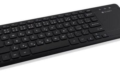 Klávesnice GoGEN WKB 460 CZB, Wireless, Touchpad, Smart TV černá (WKB460CZB)