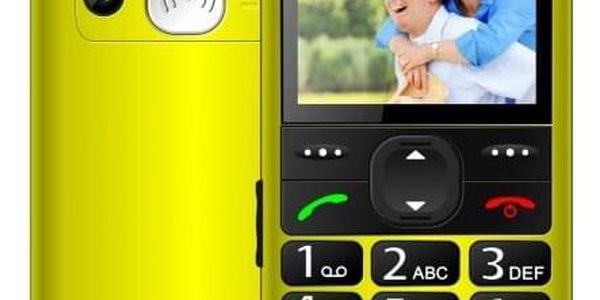 Tlačítkový telefon pro seniory CPA HALO 11, žlutá