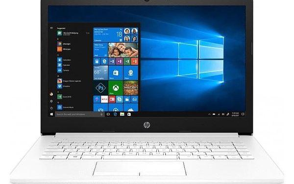"""Notebook HP 14"""" Intel Celeron 4GB, 64GB, bílý 4XX13EA + ZDARMA Antivirový program Bitdefender až pro 5 zařízení"""