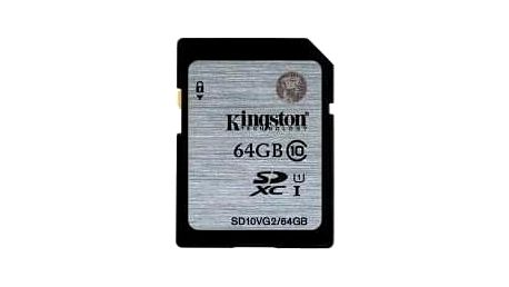 Kingston 64GB SDXC Class10 UHS-I až 45MB/s (SD10VG2/64GB)