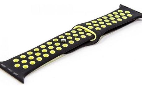 Řemínek pro hodinky, černá/zelená, vhodné pro Apple Watch