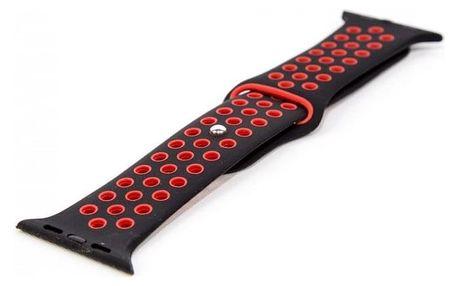 Řemínek pro hodinky, černá/červená, vhodné pro Apple Watch