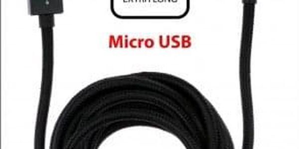 Kabel WG Micro USB na USB, 3m, černá