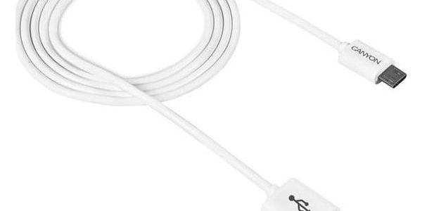 Kabel Canyon USB Micro na USB, 1m, bílá