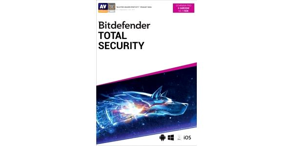 Bitdefender Total Security, 5 zařízení, 1 rok