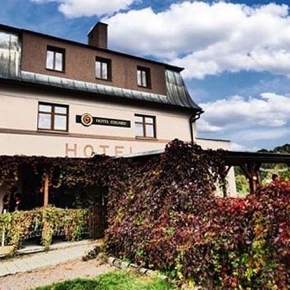 Pobyt pro dva s polopenzí v Hotelu Eduard. Ubytování, turistická oblast malebná krajina.