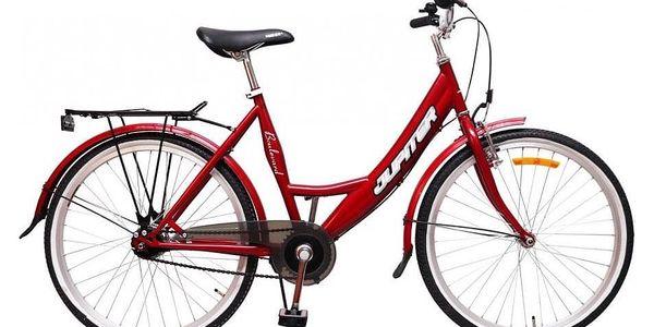 Dívčí kolo Olpran: červená barva, blatníky, vybavení Shimano Nexus4