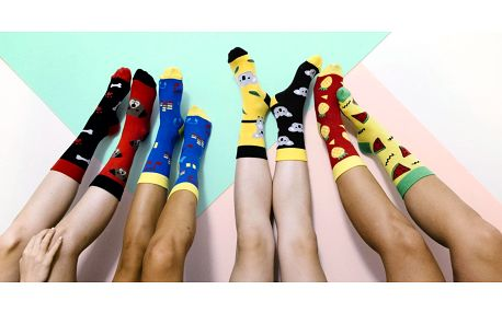 Designové unisex ponožky s veselými obrázky