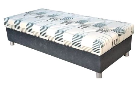 Válenda George 90x200, šedá, vč. matrace a úp