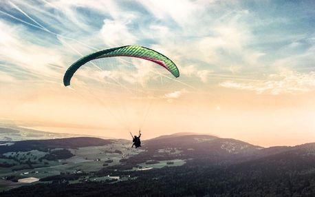 Termický tandem paragliding v Beskydech