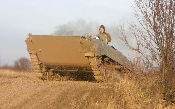 Akční jízda v BVP - obrněnci sovětské pěchoty2