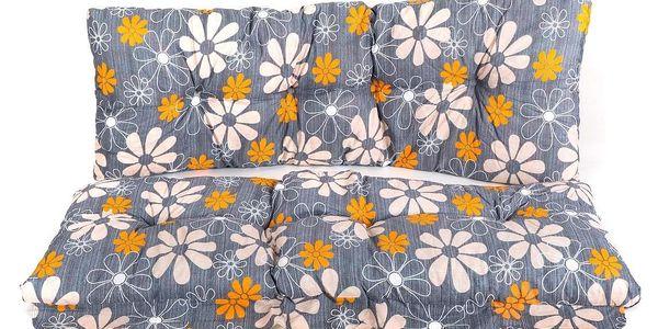 Vetro-Plus Polstr na houpačku 130 cm, vzor květy