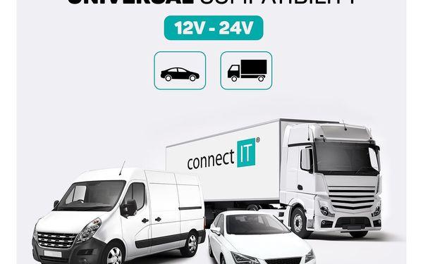 Adaptér do auta Connect IT 2x USB, 2.1A/1A (CI-176) černý4