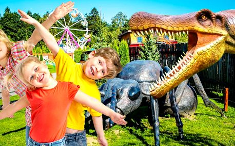 Super zábava: obří dinopark, atrakce i 5D kino