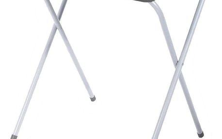Emako Zahradní skládací stůl s šedého kovu, praktický kus nábytku na balkon, terasu nebo zahradu