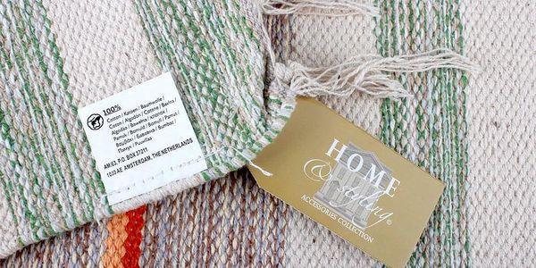 Emako Koberec dekorativní, rohožka z bavlny, 60x90 cm3