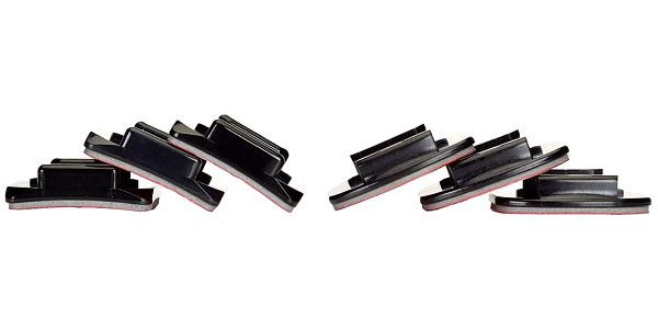 Sada držáků GoPro Curved + Flat Adhesive Mounts (AACFT-001) černý2