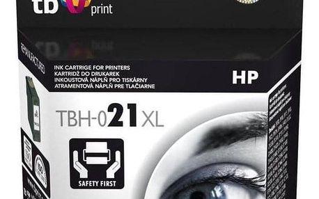 Inkoustová náplň TB HP C9351AE (No.21) Bk - kompatibilní černá (TBH-021XL)