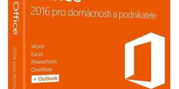 Software Microsoft Office 2016 CZ pro domácnosti a podnikatele (T5D-02737)