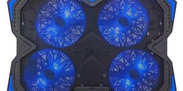 """Chladící podložka pro notebooky C-Tech Zefyros, modré podsvícení, pro 17,3"""" (GCP-01B)2"""