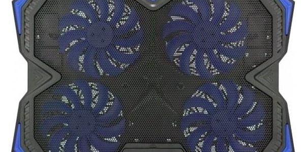 """Chladící podložka pro notebooky C-Tech Zefyros, modré podsvícení, pro 17,3"""" (GCP-01B)4"""