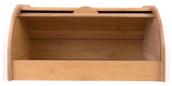 Bambusový chlebník, box na chleba, 40x26x20cm, ZELLER2